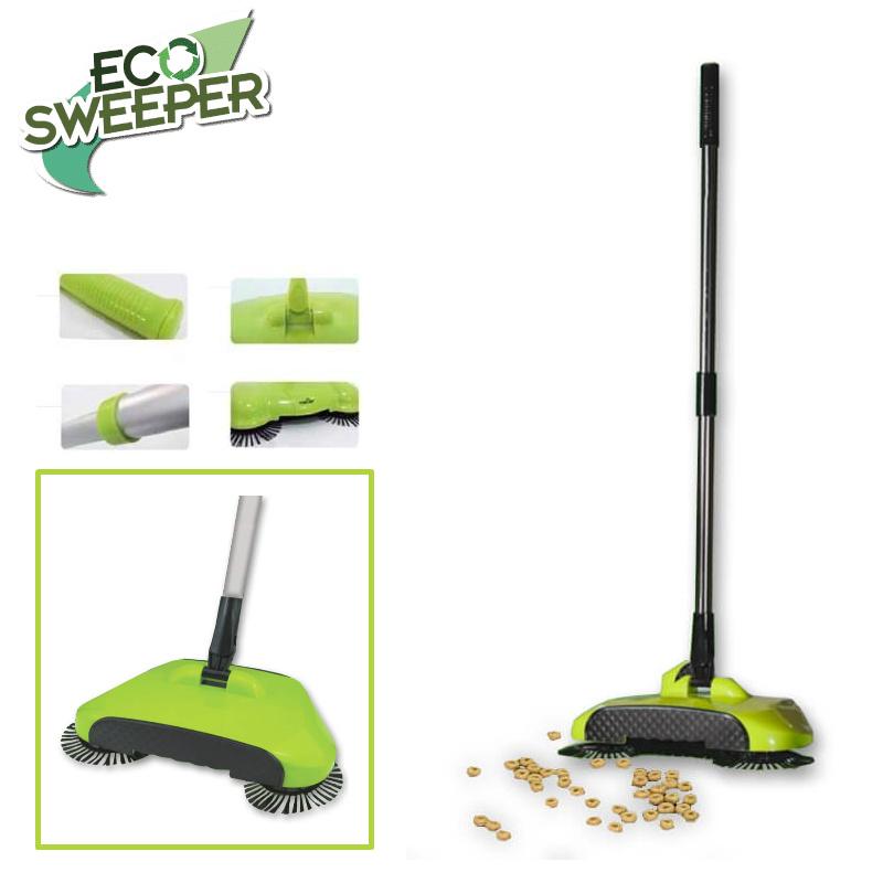 ECO Sweeper Χειροκίνητη σκούπα 3 σε 1 για όλες τις επιφάνειες 1+1 δώρο