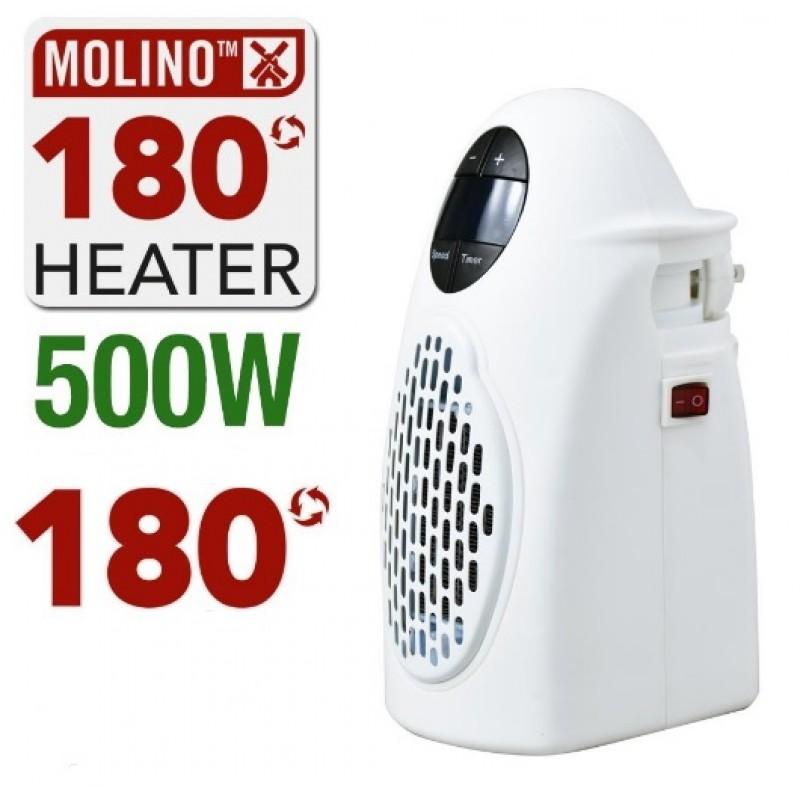 Μίνι Φορητή Κεραμική Θερμάστρα με τηλεχειριστήριο Molino